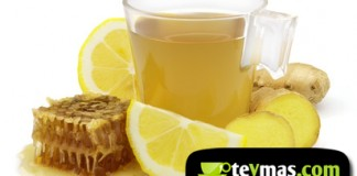 Té revitalizante a base de té verde, miel, limón y jengibre