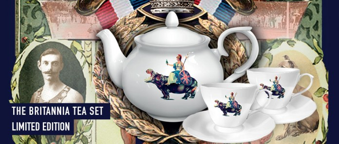 The britanian tea set limited edition by Blur