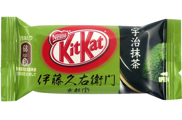 Kit Kat realizado con Matcha
