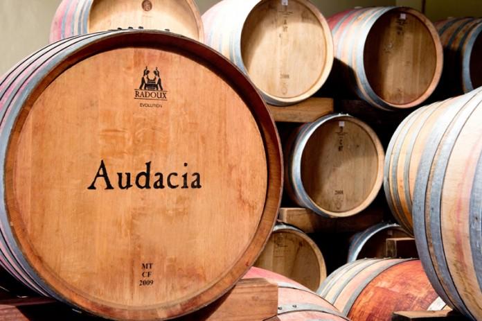Bodega de vino Audacia