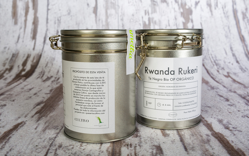 Lata solidaria de Té Ruanda Rukeri