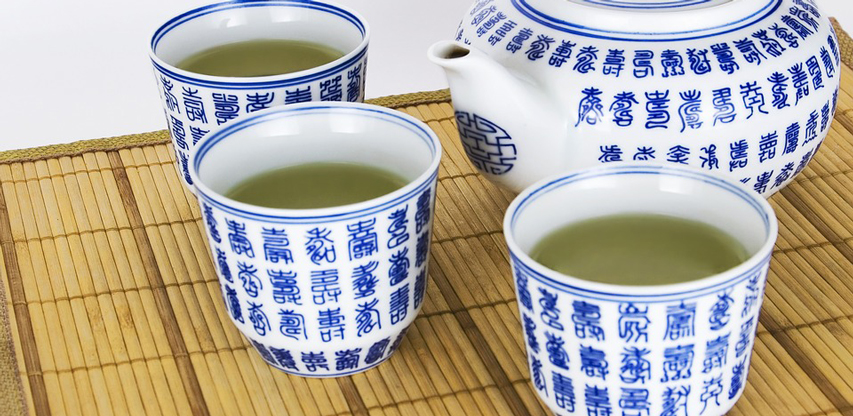 Tazas de té verde