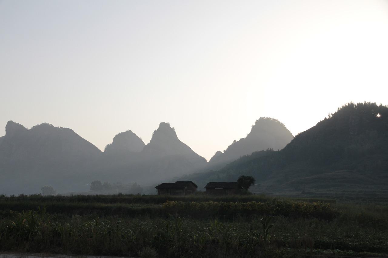 Vista de montañas de Fujian